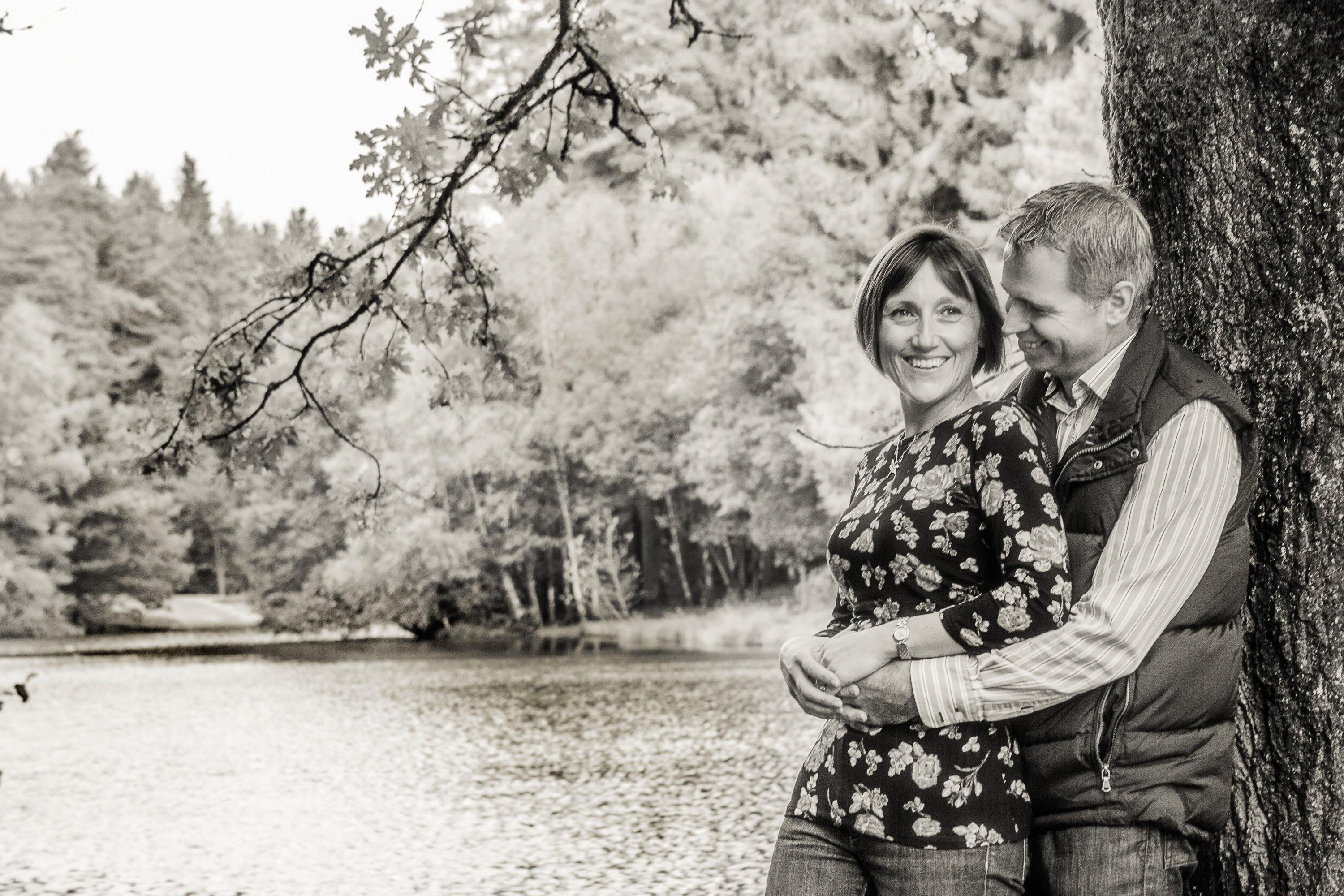 Sarah-Jane & Dave photographed by Andrew Davis photography close to the English and Welsh borders in The Forest of Dean on their pre wedding shoot.