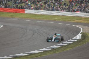 Lewis Hamilton at Club Corner Silverstone by Andrew Davis Photography, Pencoed, Bridgend